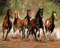 GX8288- 40*50 The horse running handmade artistic wholesale diy oil painting art on canvas by numbers for home decor