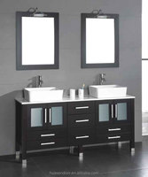 chinese mirror style glass insert vanity for bathroom