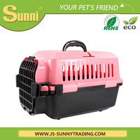 Customized lovable dog cat carrier plastic kennels
