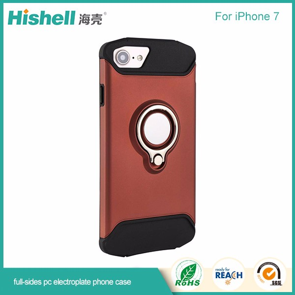 Soft TPU and hard pc mobile phone case with magetic for iphone7