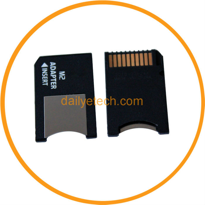 8GB M2 Micro Memory Stick to MS Pro Duo Card Adapter from dailyetech