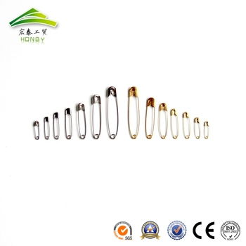 Wholesale Hang Tag 19mm-55mm Silver Color Metel Safety Pin