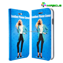 Fashion 3d sublimation mobile leather phone case wholesale