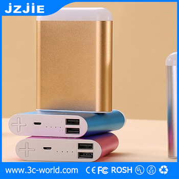 Metal material PowerBank 10000mAh Aluminum Portable power bank charger with flashlight