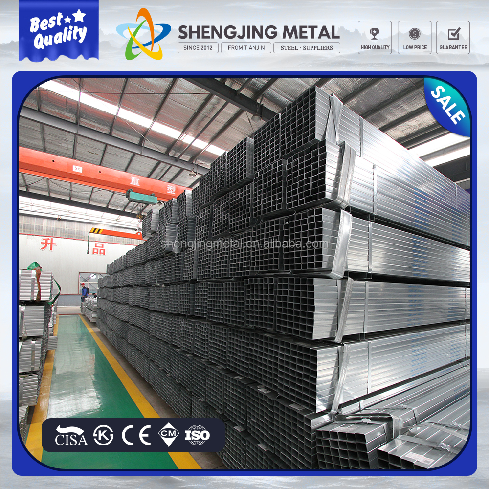 alibaba website 0.5-3.0mm thickness Square/Rectangular Pre-galvanize steel pipe from China manufacturer