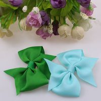3 inch grosgrain ribbon claw clip hair bow , 196 colors available