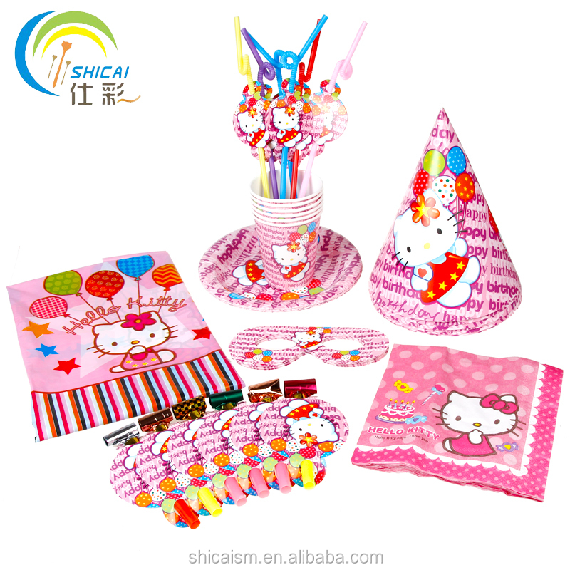 1 Set / 43pcs Birthday Party Supplies Children's Theme Tableware 6 People Set Birthday Party Party Decoration Arrangement