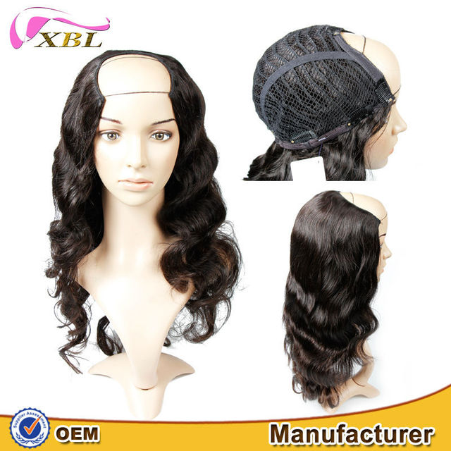 2015 XBL new style no mix high quality Brazilian human hair u part wig and v part wig