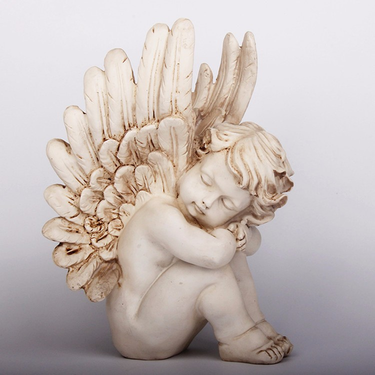 Custom home decoration resin cherub angel statues wholesale