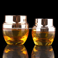 20Ml 30Ml 50Ml Gold Colored Empty Small Cosmetic Containers With Silver Cap