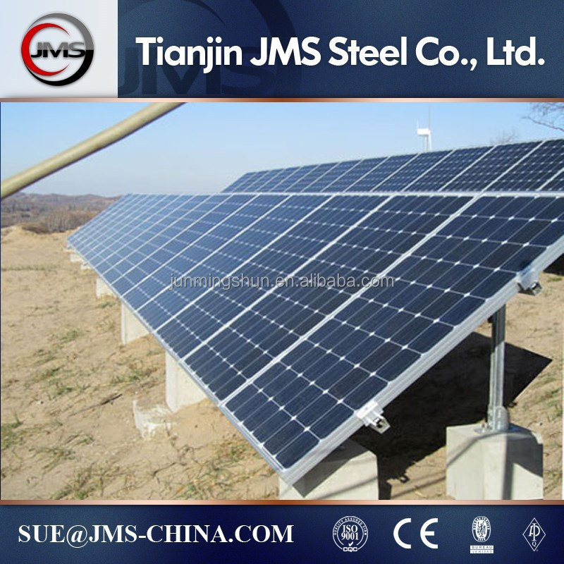 Solar ground screw mounting system/brackets
