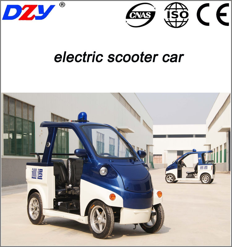 CE Four Wheel Battery Scooter Vehicle Electric Security Patrol Car