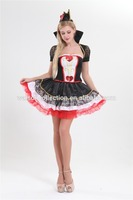 Clothes waslon factory 2016 wholesale adult cosplay queen of hearts costume