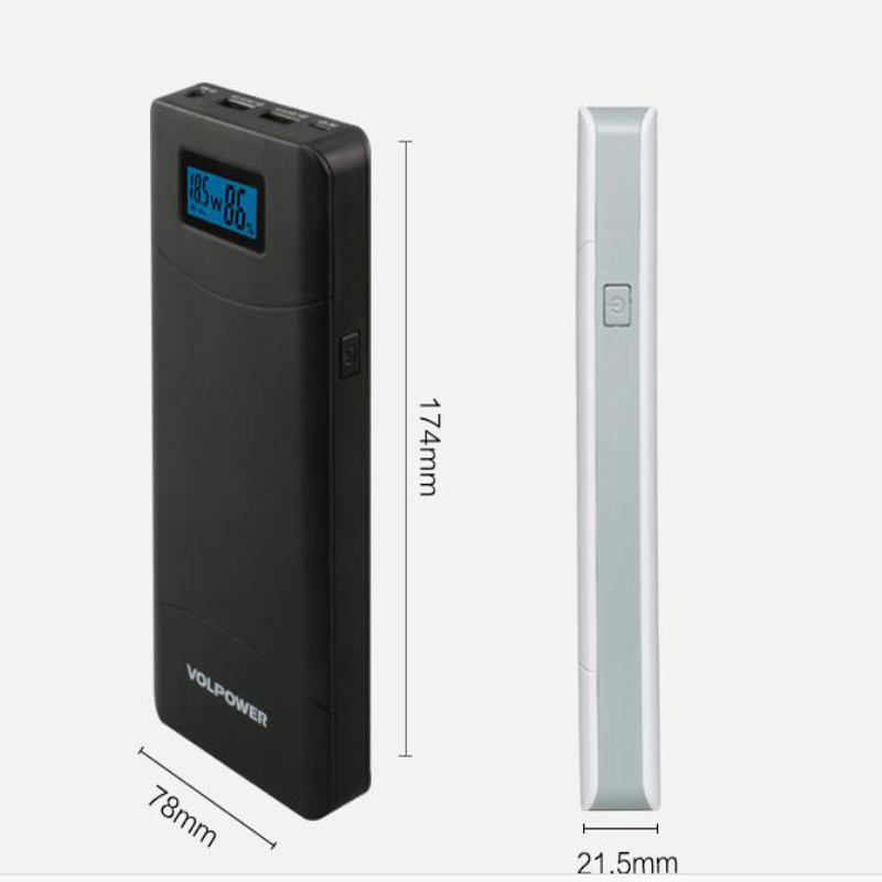 New products 2016 P65 High capacity 16000mah high efficiency 97% 9v 12v 24v QC2.0 portable unicorn power bank
