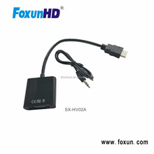 Foxun SX-HV02A Mini HDMI Audio Video VGA Converter HDMI to VGA with Audio