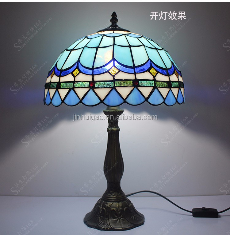 Tiffany Table Lamps Light Base Fixture Mediterranean Sea Style Bedroom Decor table lamp