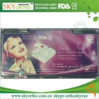 Orthodontic Braces in Plastic bracket box