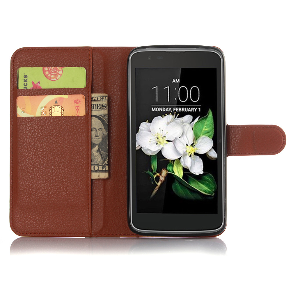 RETRO LUXURY LEATHER WALLET FLIP BOOK CARD SLOTS CASE COVER For LG K7 <strong>K10</strong>