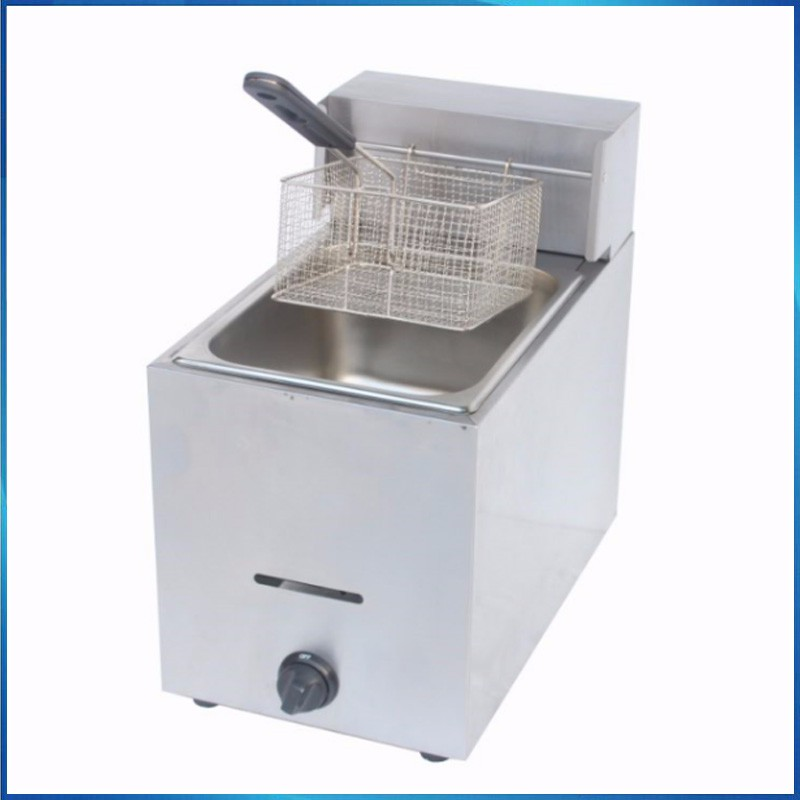 commercial table top gas deep fryer(1 tank 1 basket)