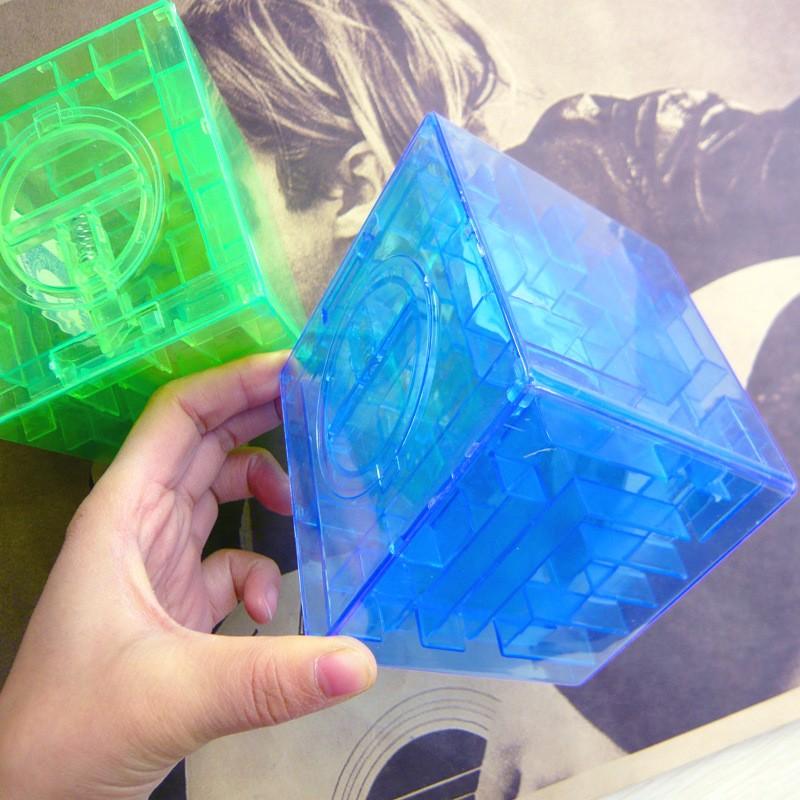 Transparent Square Maze Money Box Clear Maze Plastic