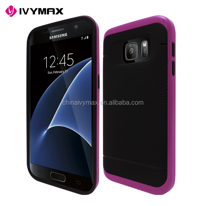 2016 new arrival soft tpu mobile phone case for samsung galaxy s7 hybrid shockproof covers
