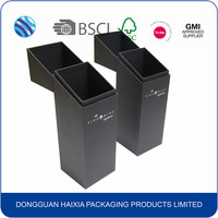 black hot stamp cardboard packaging box for wine