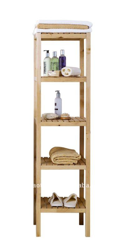 Estanterias De Baño Para Toallas:Wooden Bathroom Shelves