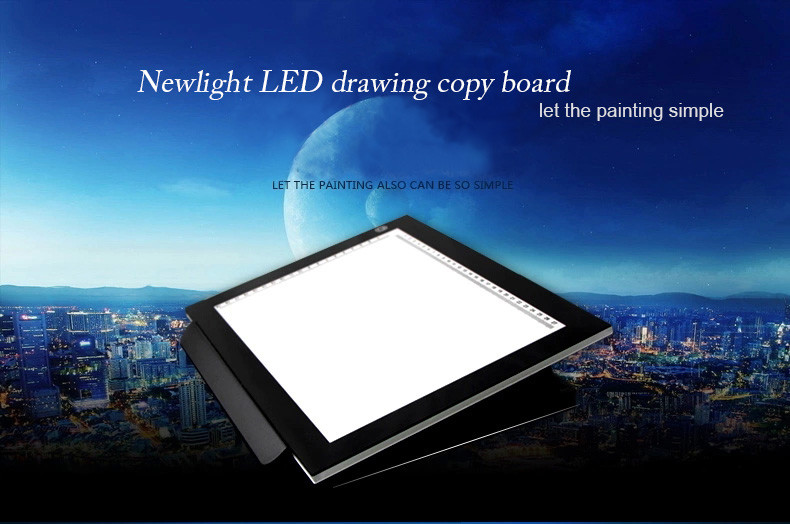 5mm LED Acryl Panel Tattoo Tracing Board, Touch sensor LED Licht Tekening Kopie Boord,