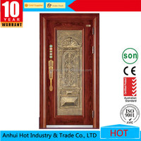 China Steel Door Low Prices New Products Stainless Steel Grill Glass Door Design With Lock