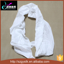 big size white silk pongee scarf shawls for embroidery