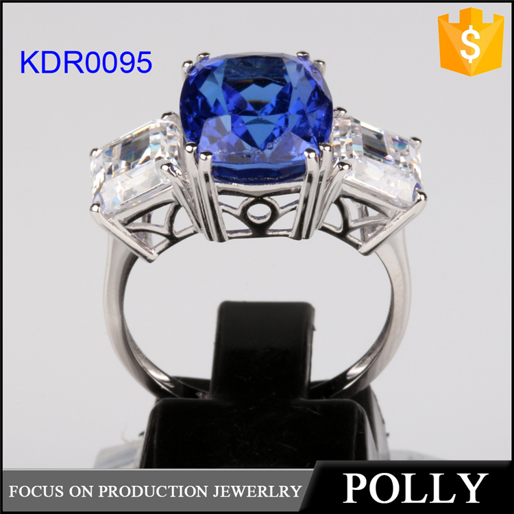 2015 fashion hot European gemstone silver ring China supplier jewelry