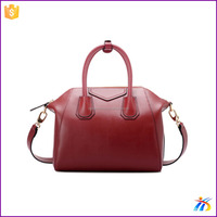 New style smile face PU leather bags for girls handle,single shoulder handbag use