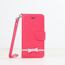 Pretty bowkont luxury leather cover case with hand straps for iphone6 iphone6s