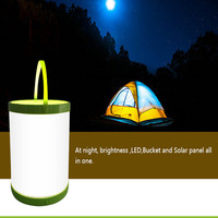 2016 new patent ip67 shenzhen portable bucket solar led camping gear