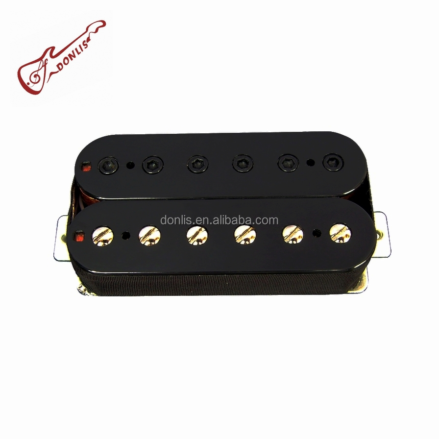 Donlis Quality alnico humbucker guitar pickup with Nickel Silver Baseplate and 4 cords