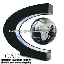 The biggest floating factory in shenzhen: Magic Black C shape Magnetic roating floating globe, Levitating globe