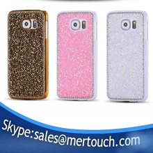 Bling bling diamond back cover case for Samsung galaxy S7 rose gold pink hot selling phone case