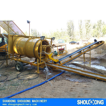 High Efficient Small Movable Trommel For Gold Mining