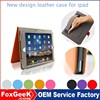 Special design pure color luxury wallet case for ipad air leather case with multi function