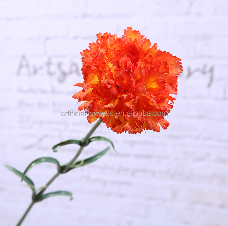 Mother's Day individual high end wholesale silk carnation flower