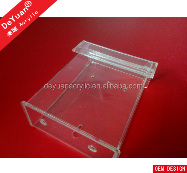 Outdoor acrylic durable A4 sizes mail box / clear acrylic brochure holder