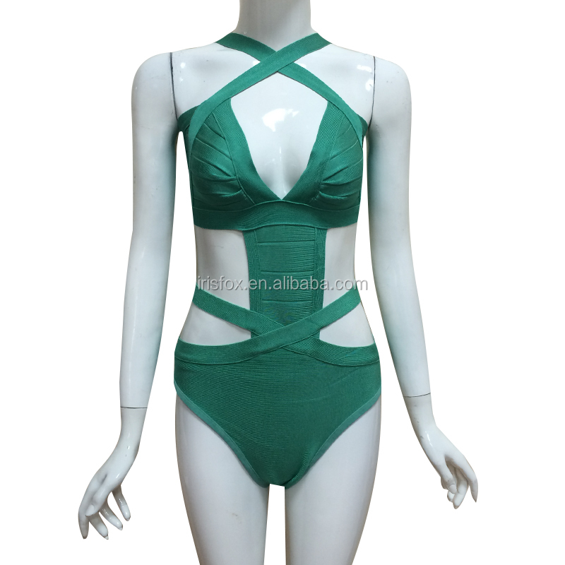 green monokini 2016 bandage hl swimsuit one piece brazilian bikini