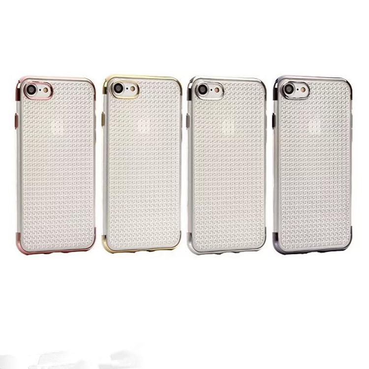 New Arrive Slim Thin Soft Electroplating Bumper Dotted Transparent TPU Cellphone Cover Case for iPhone 6 6S