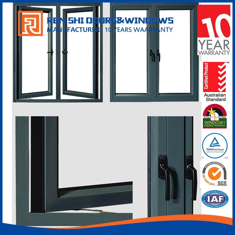 AS2047 standard hurricane impact casement aluminum profile windows and door