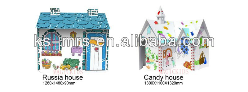 Big American Cardboard playhouse for kids