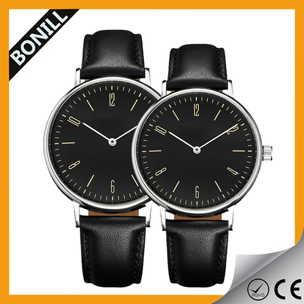 Girlfriend Boyfriend Quartz Wrist Watch Fashion Lover Valentine Watches Stainless Steel case Genuine leather Couple Watches