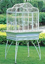 luxurious metal wire bird parrot breeding cage house