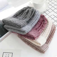 Women Girls Winter Warm Hats Angora Rabbit Fur Knit Hats Cashmere Beanie Hat Cap