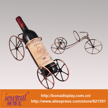 Iron art bottle stand for wine display BN-C0010
