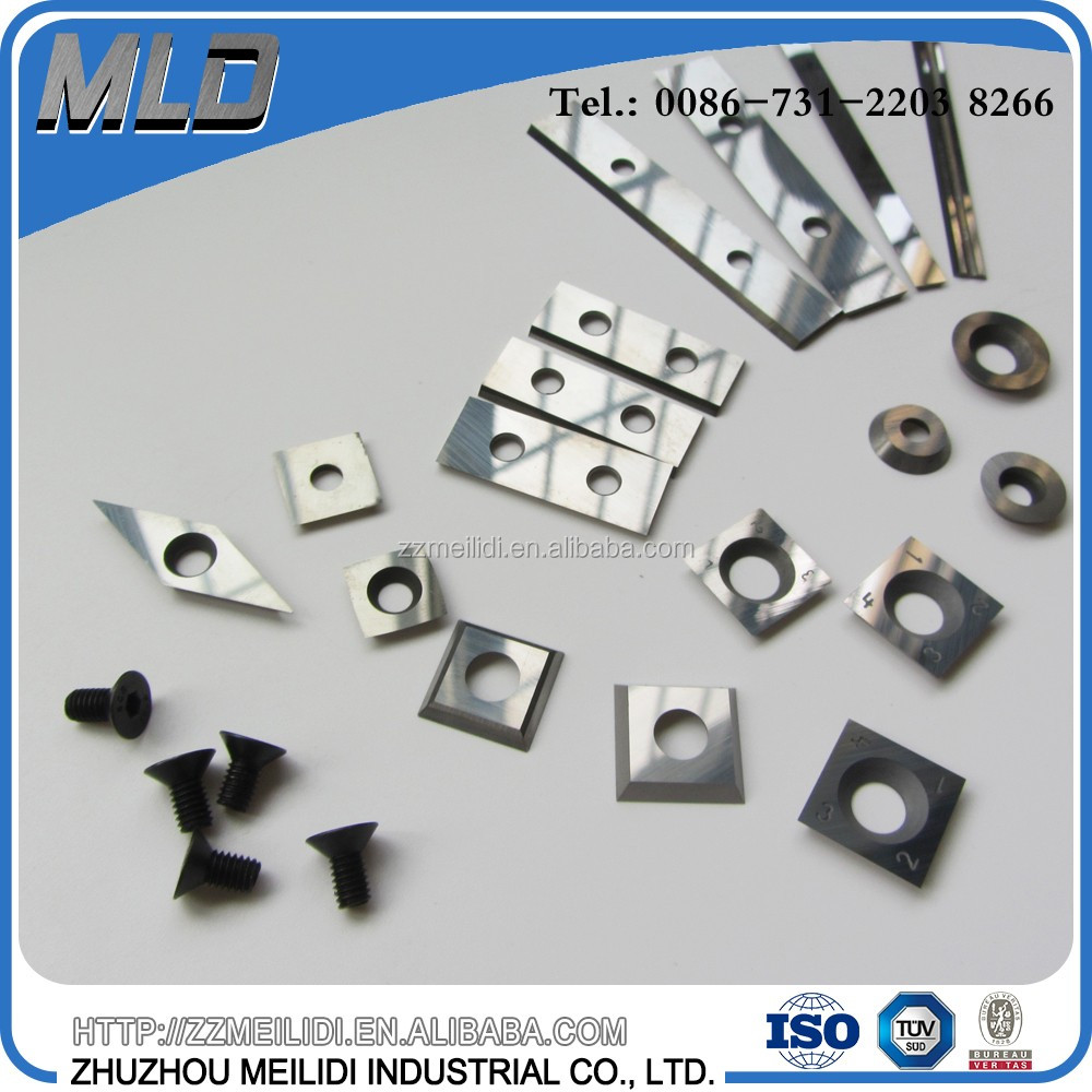 15mm square tungsten carbide cutter insert for wood turning tools